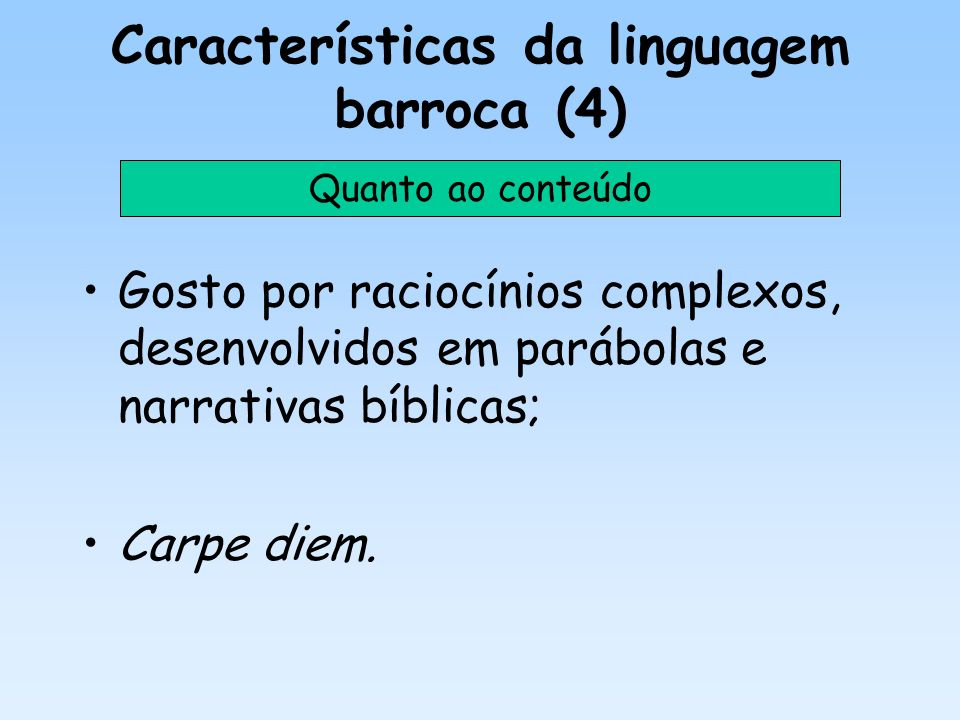 Características da linguagem barroca (4)