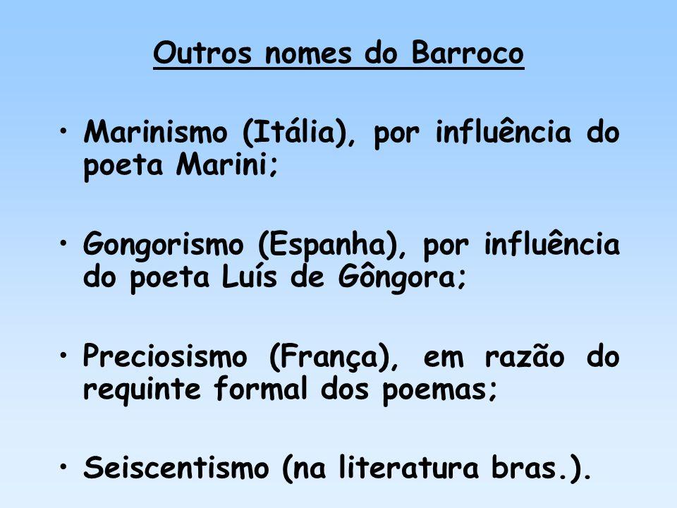 Outros nomes do Barroco