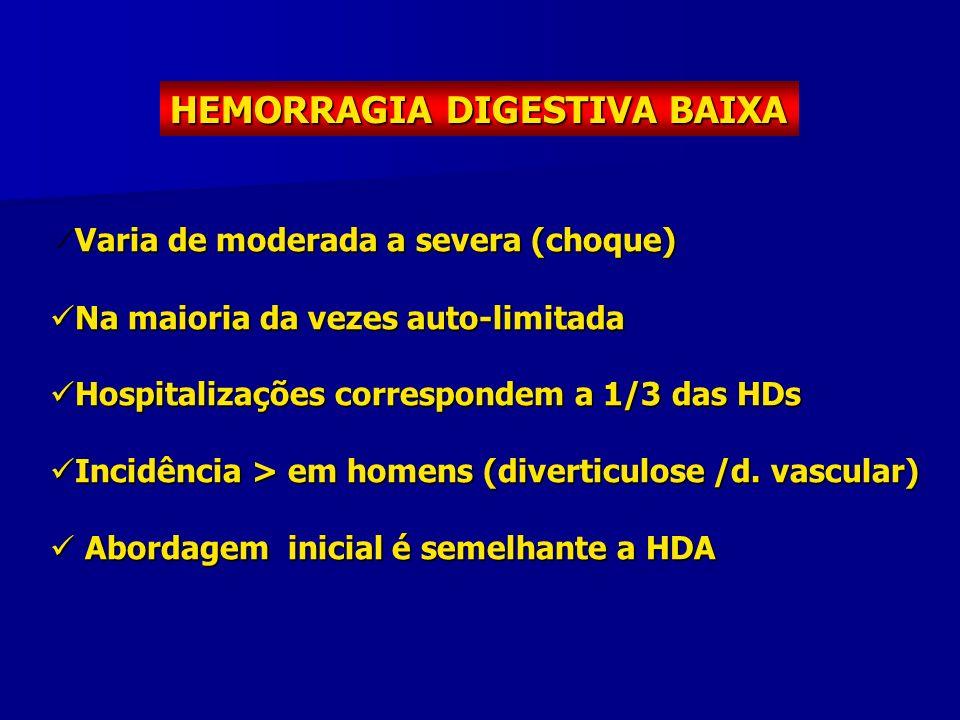 HEMORRAGIA DIGESTIVA BAIXA
