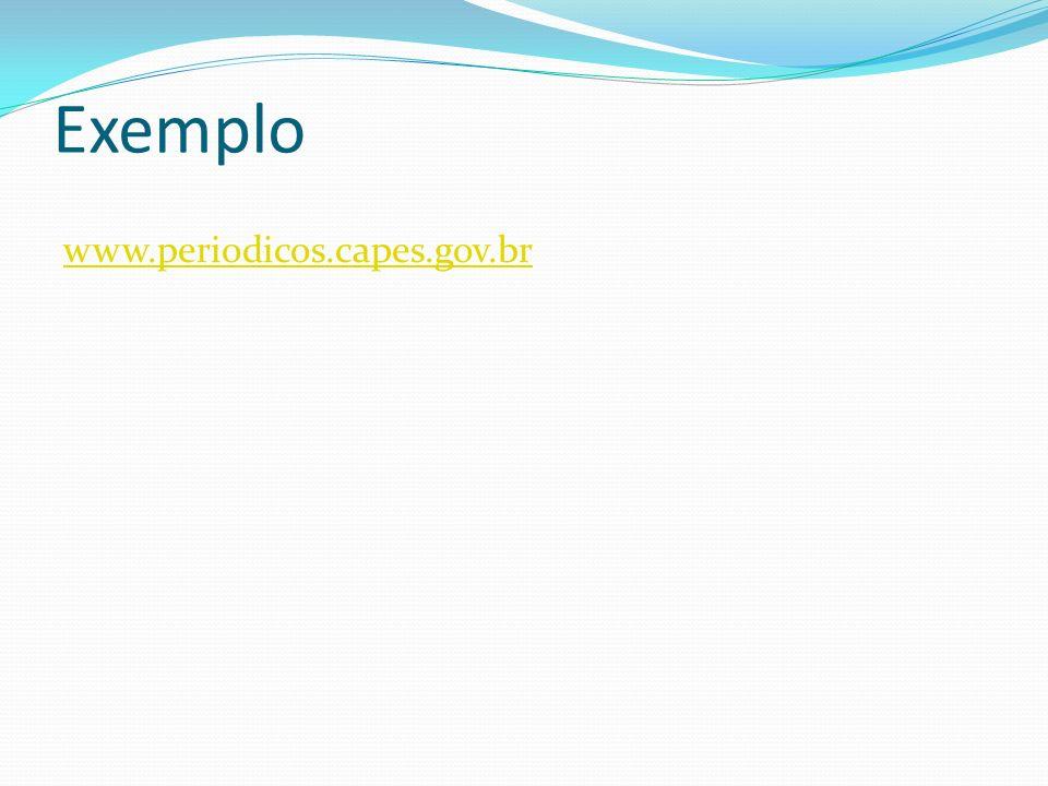 Exemplo www.periodicos.capes.gov.br
