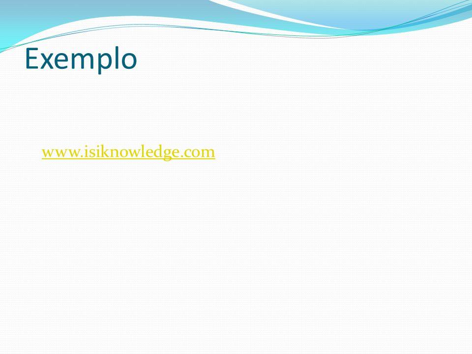 Exemplo www.isiknowledge.com
