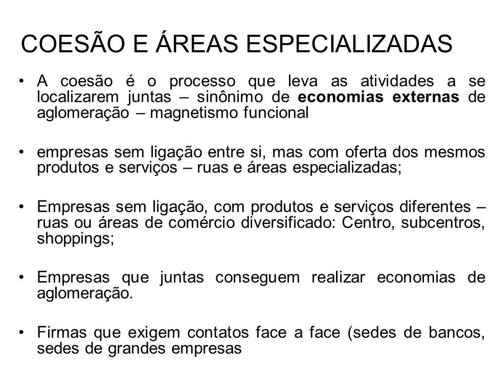 COESÃO E ÁREAS ESPECIALIZADAS