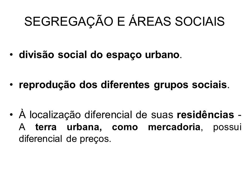 SEGREGAÇÃO E ÁREAS SOCIAIS