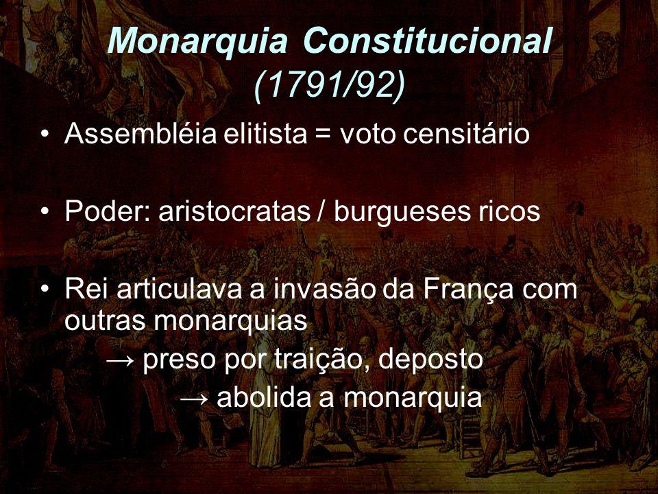 Monarquia Constitucional (1791/92)