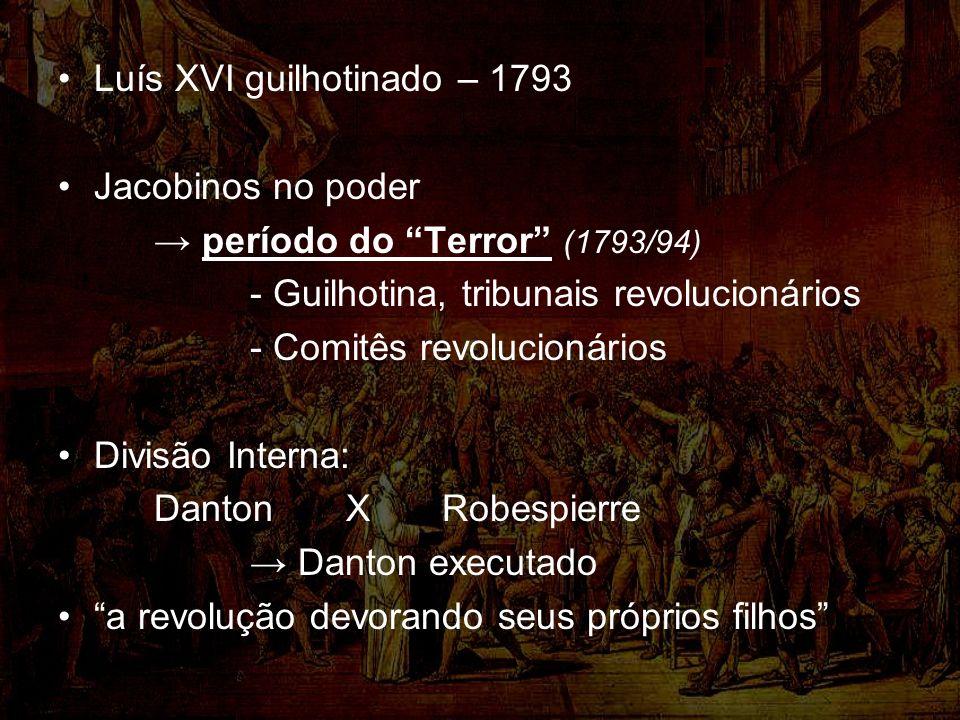 Luís XVI guilhotinado – 1793