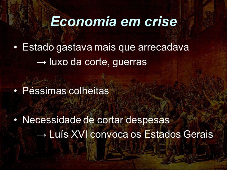 Economia em crise Estado gastava mais que arrecadava