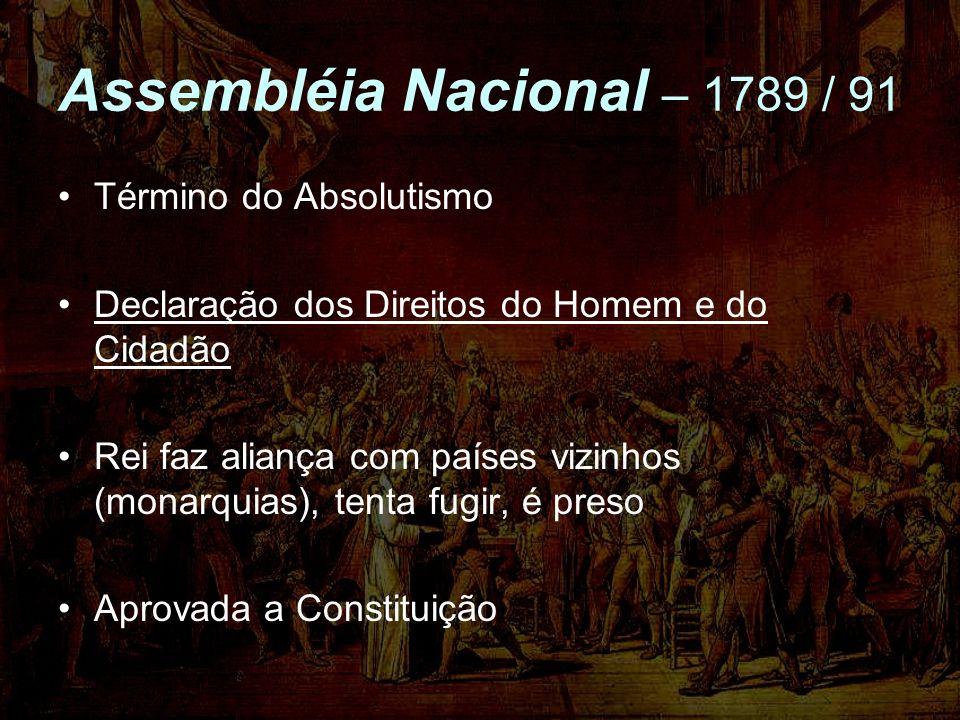 Assembléia Nacional – 1789 / 91