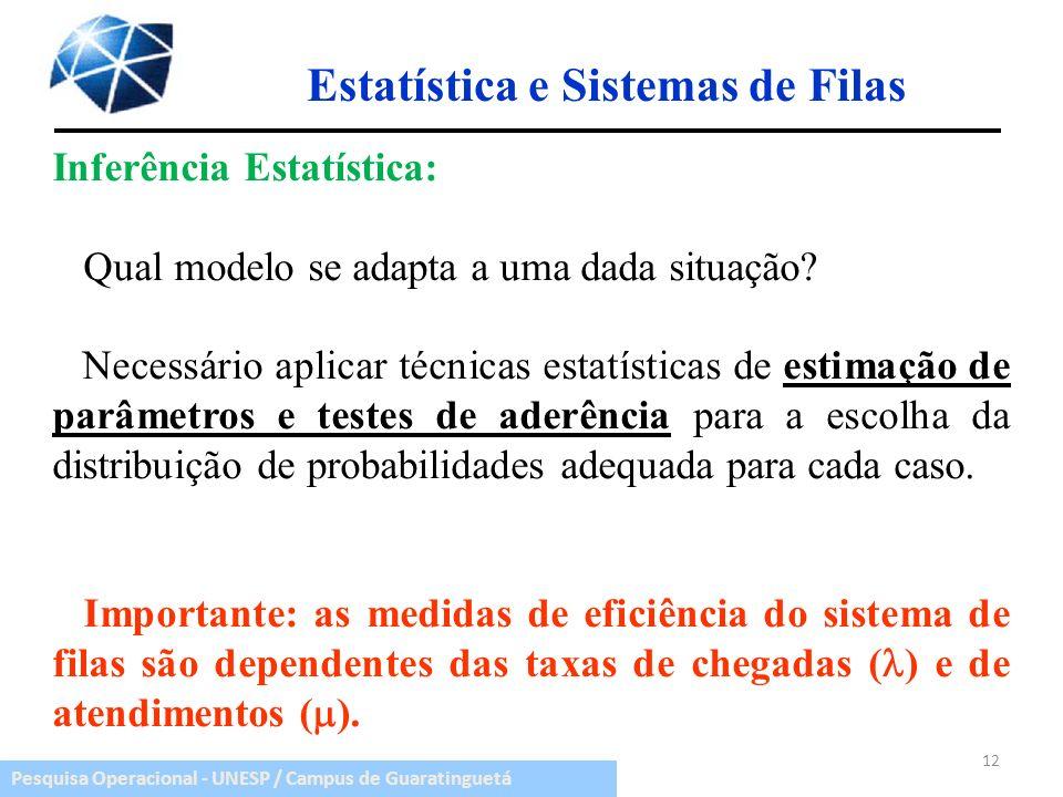 Estatística e Sistemas de Filas