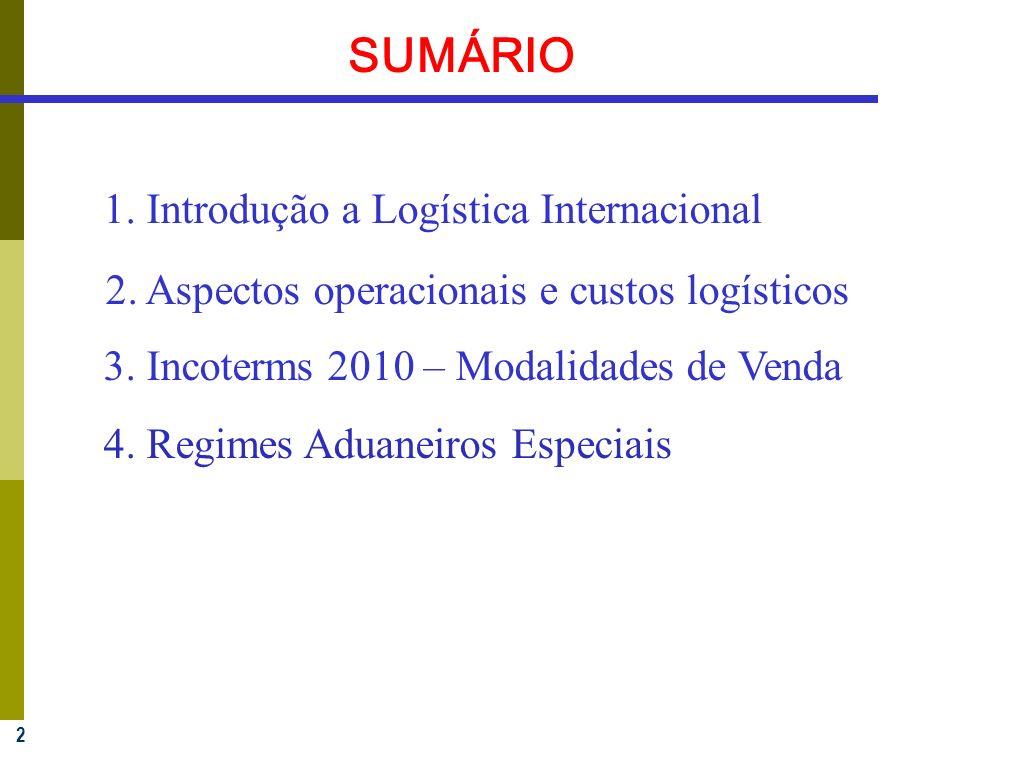 SUMÁRIO 1. Introdução a Logística Internacional