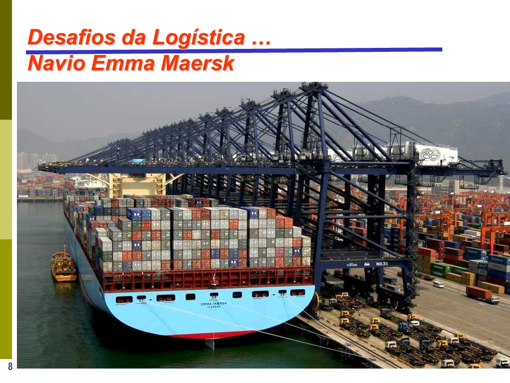 Desafios da Logística … Navio Emma Maersk