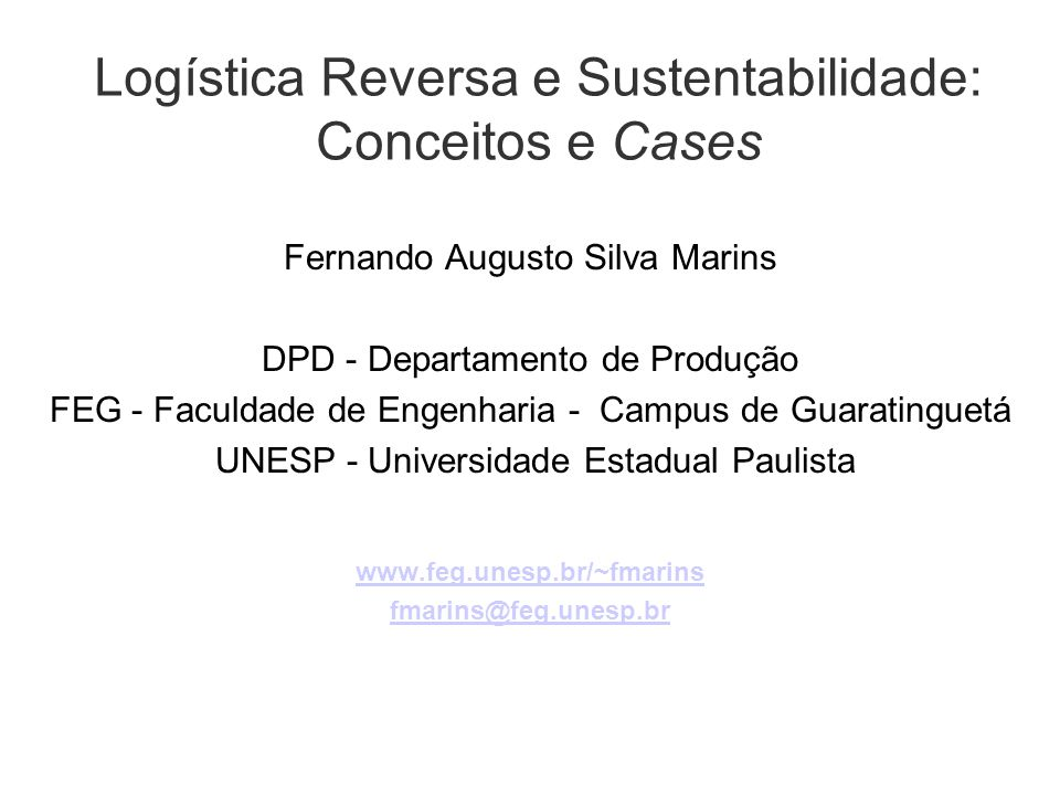 Logística Reversa e Sustentabilidade: Conceitos e Cases