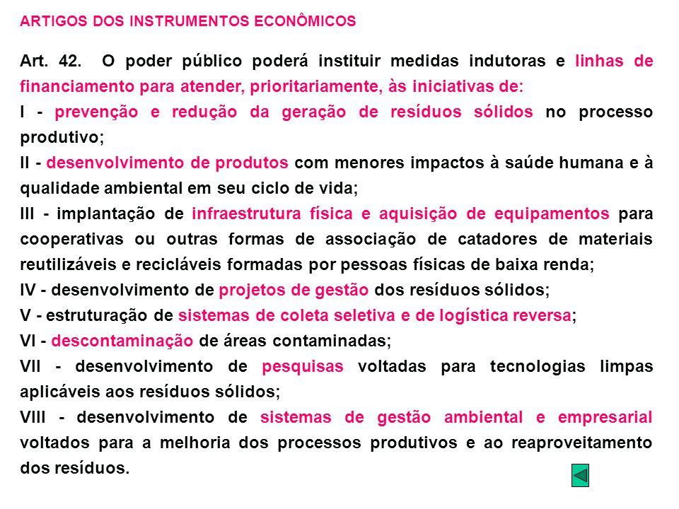 IV - desenvolvimento de projetos de gestão dos resíduos sólidos;