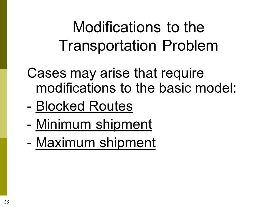 case applichem the transportation problem