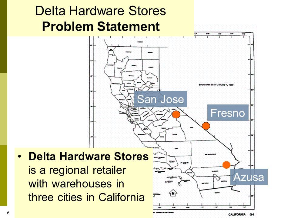 Delta Hardware Stores Problem Statement