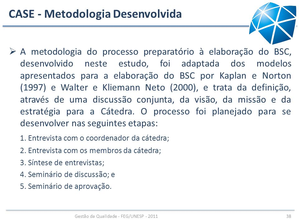 CASE - Metodologia Desenvolvida