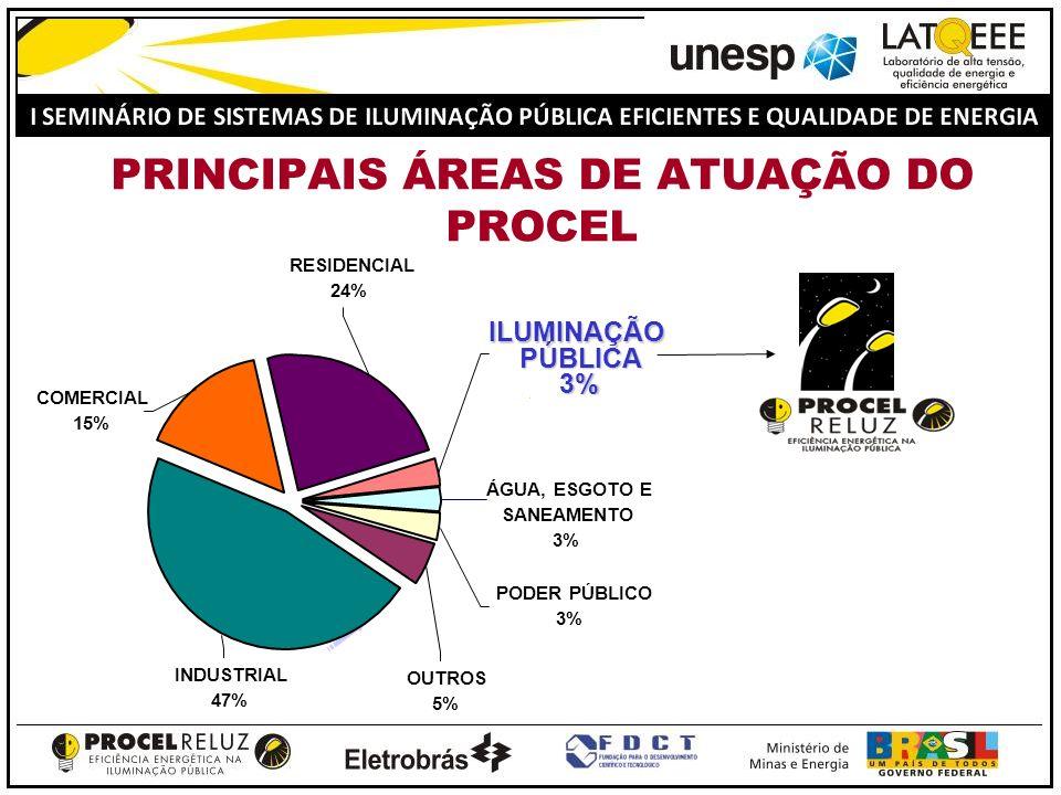 PRINCIPAIS ÁREAS DE ATUAÇÃO DO PROCEL