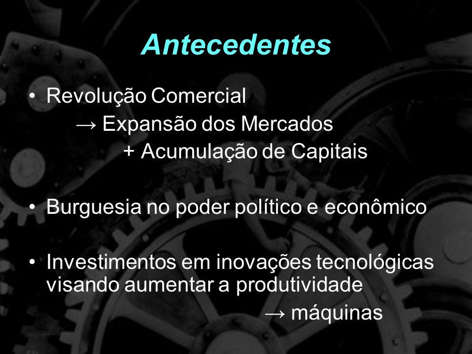 Antecedentes Revolução Comercial → Expansão dos Mercados