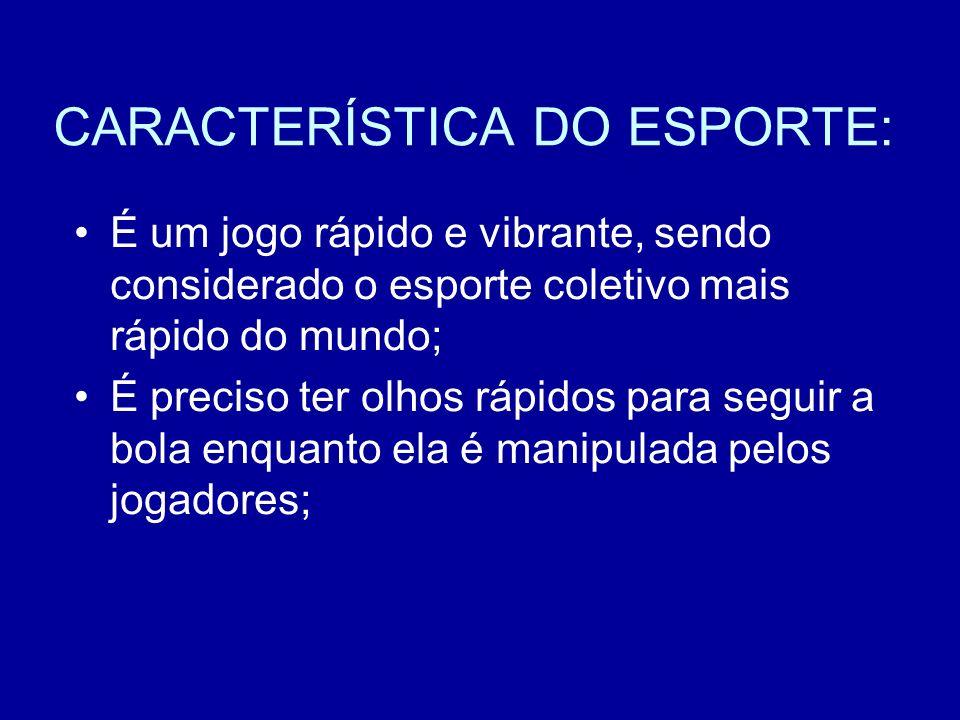 CARACTERÍSTICA DO ESPORTE: