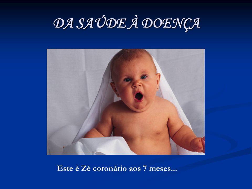 DA SAÚDE À DOENÇA Este é Zé coronário aos 7 meses...