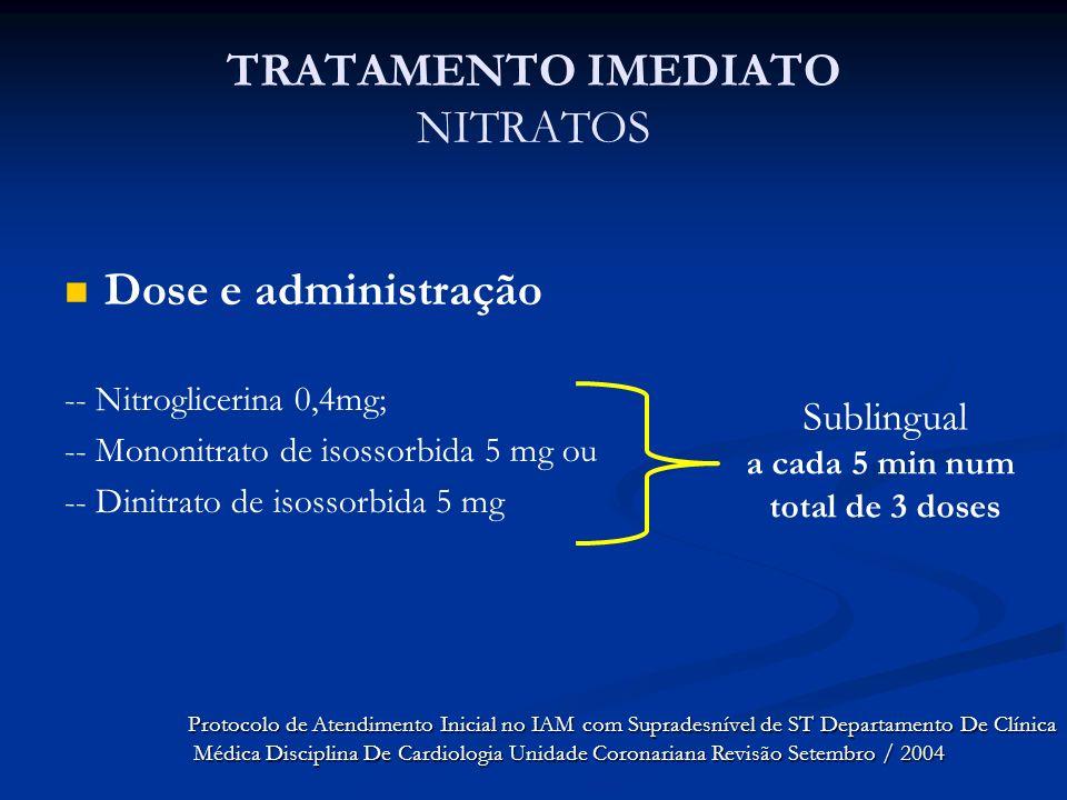 TRATAMENTO IMEDIATO NITRATOS