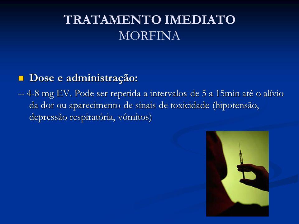 TRATAMENTO IMEDIATO MORFINA