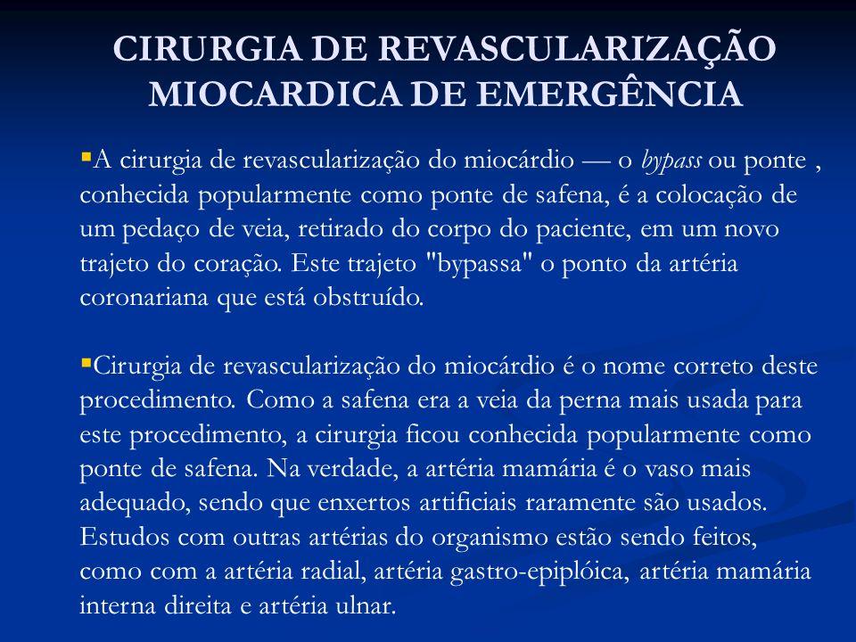 CIRURGIA DE REVASCULARIZAÇÃO MIOCARDICA DE EMERGÊNCIA