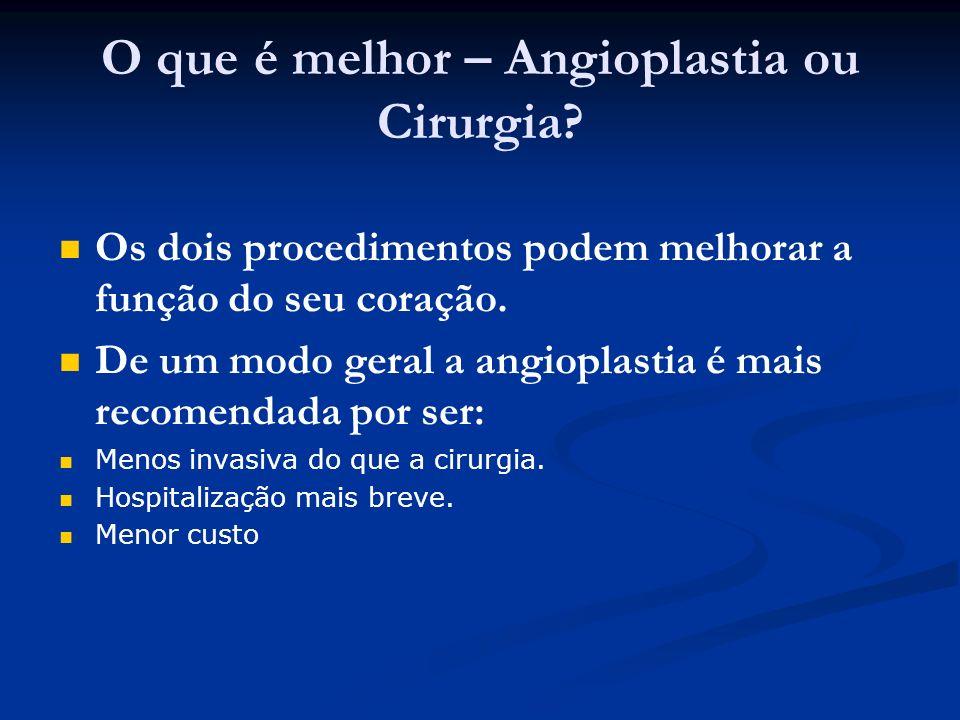 O que é melhor – Angioplastia ou Cirurgia