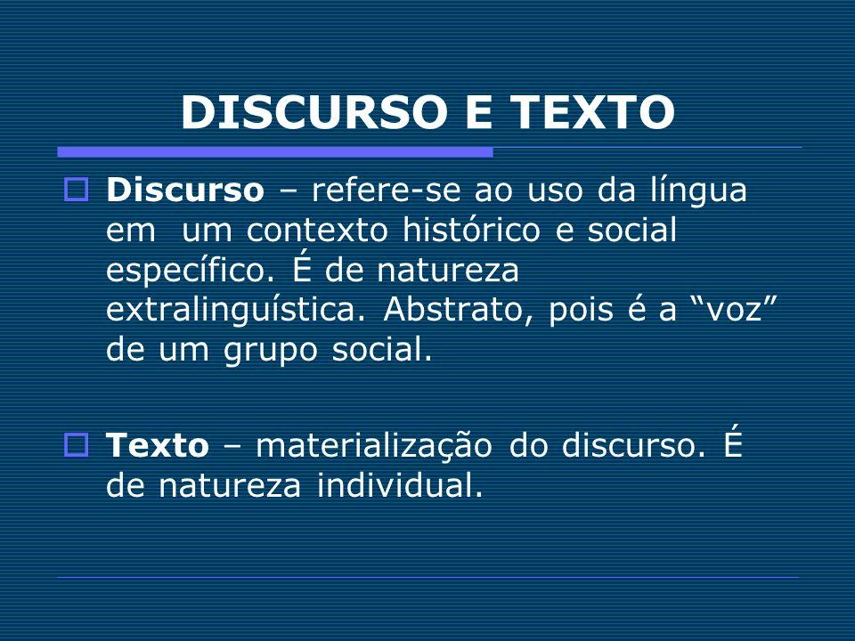 DISCURSO E TEXTO