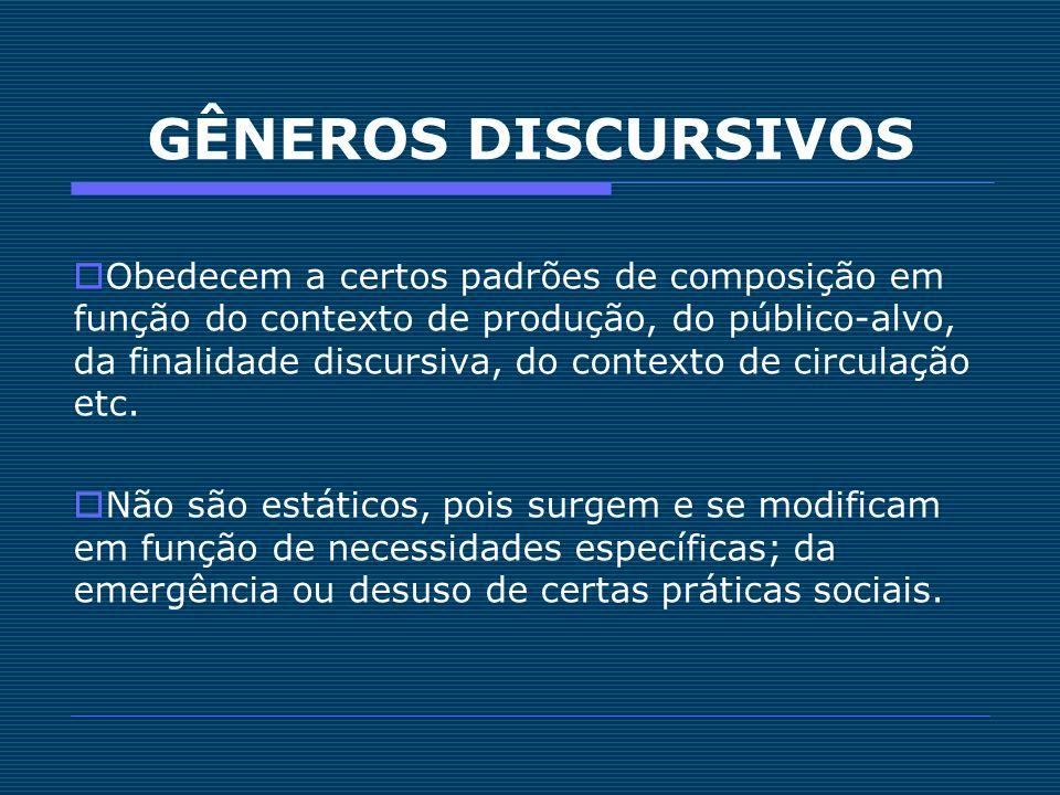 GÊNEROS DISCURSIVOS