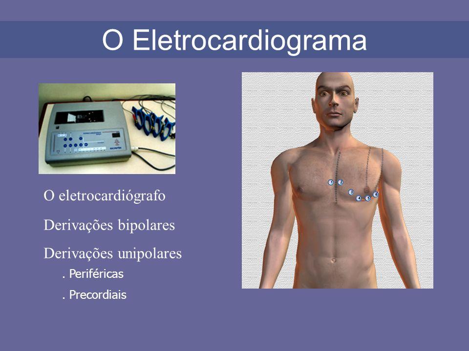 O Eletrocardiograma O eletrocardiógrafo Derivações bipolares