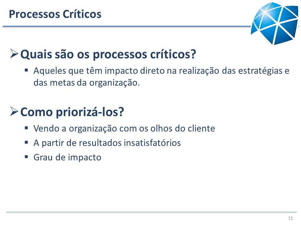 Quais são os processos críticos