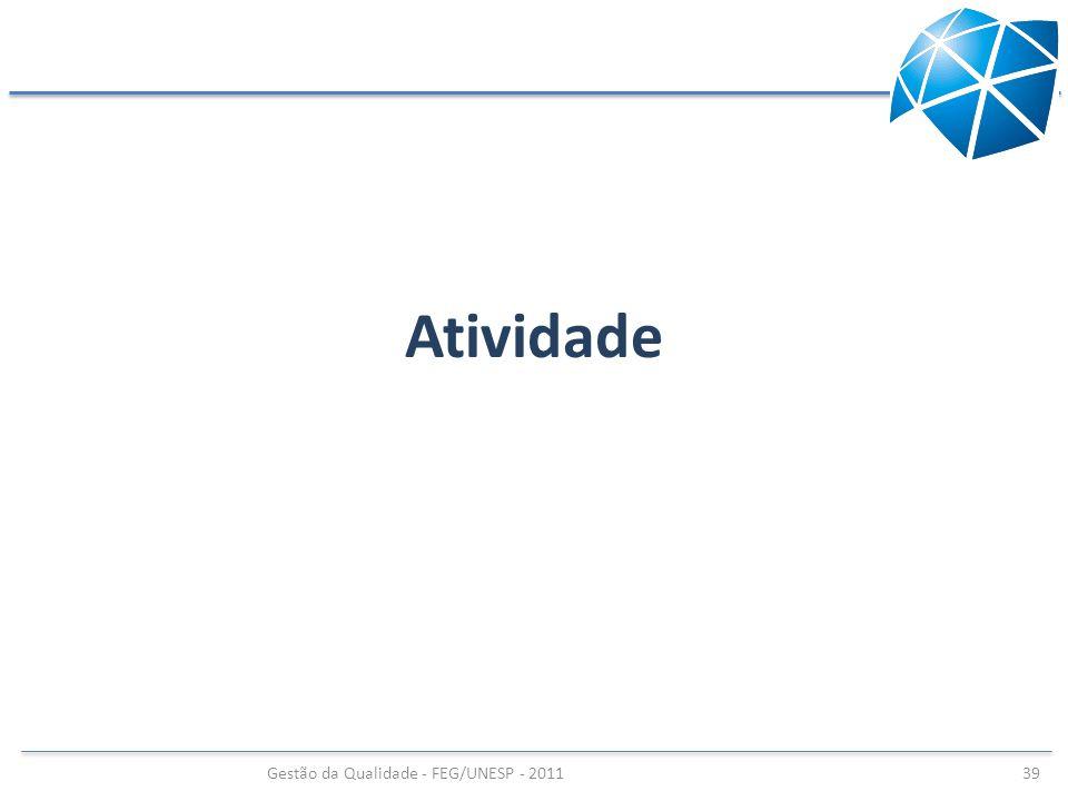 Gestão da Qualidade - FEG/UNESP - 2011