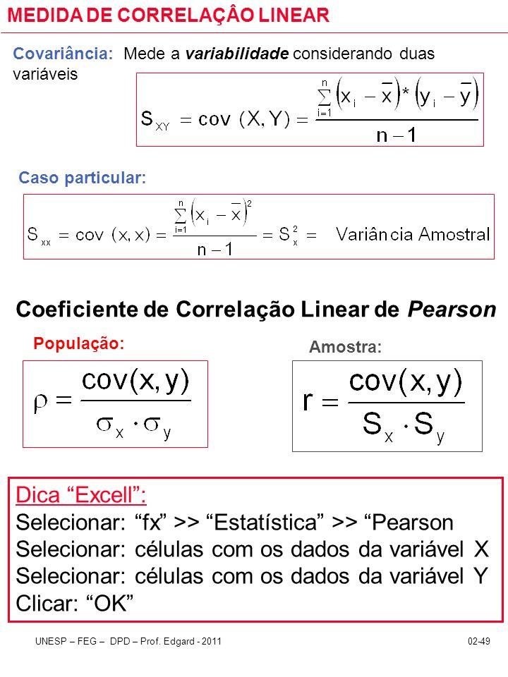 Coeficiente de Correlação Linear de Pearson