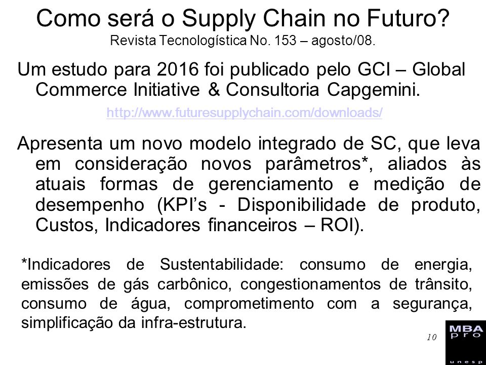 Como será o Supply Chain no Futuro. Revista Tecnologística No