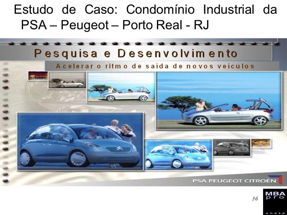 Estudo de Caso: Condomínio Industrial da PSA – Peugeot – Porto Real - RJ