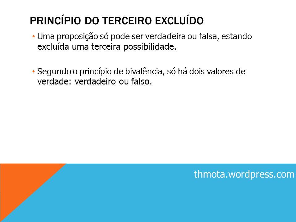 PRINCÍPIO DO TERCEIRO EXCLUÍDO
