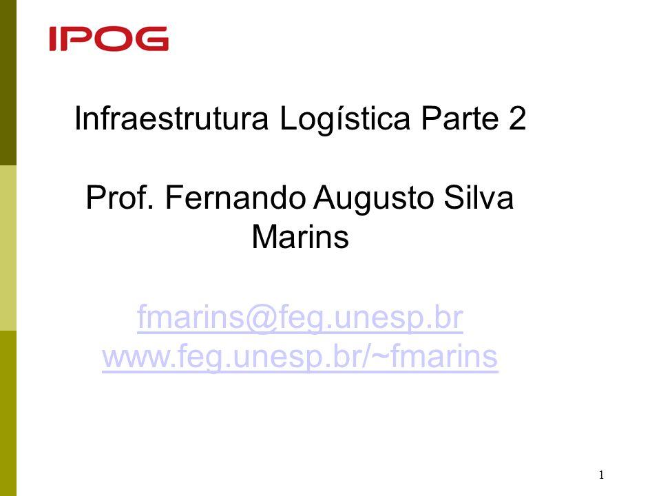 Infraestrutura Logística Parte 2 Prof. Fernando Augusto Silva Marins