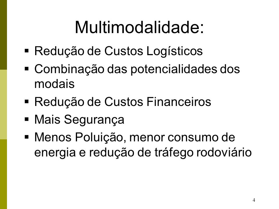 Multimodalidade: Redução de Custos Logísticos