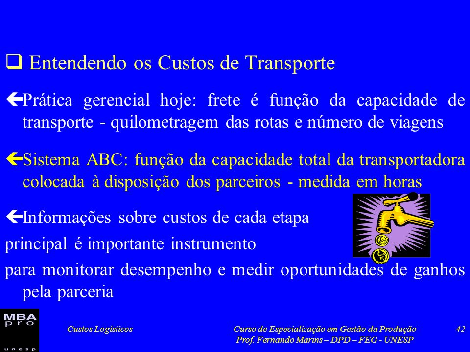 Entendendo os Custos de Transporte