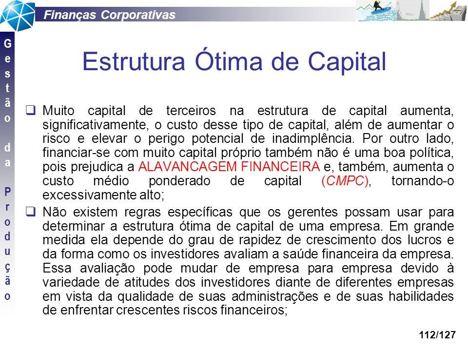 Estrutura Ótima de Capital