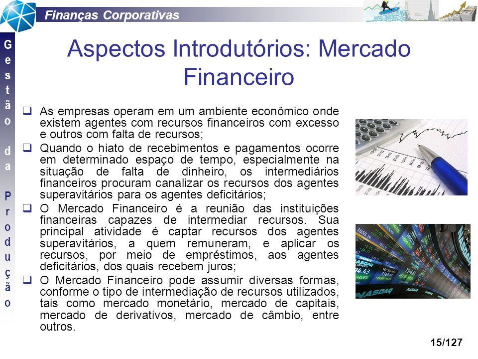 Aspectos Introdutórios: Mercado Financeiro