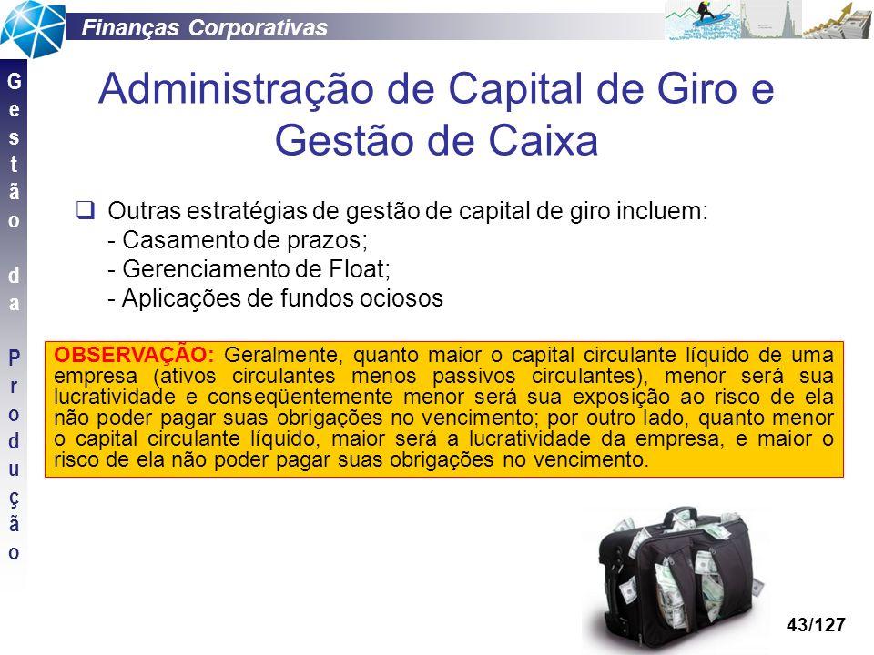 Administração de Capital de Giro e Gestão de Caixa