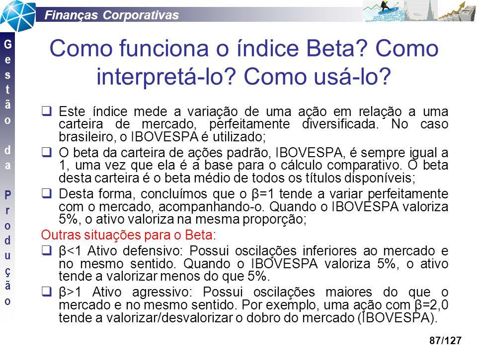 Como funciona o índice Beta Como interpretá-lo Como usá-lo