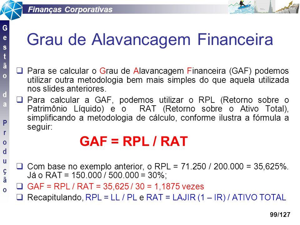Grau de Alavancagem Financeira