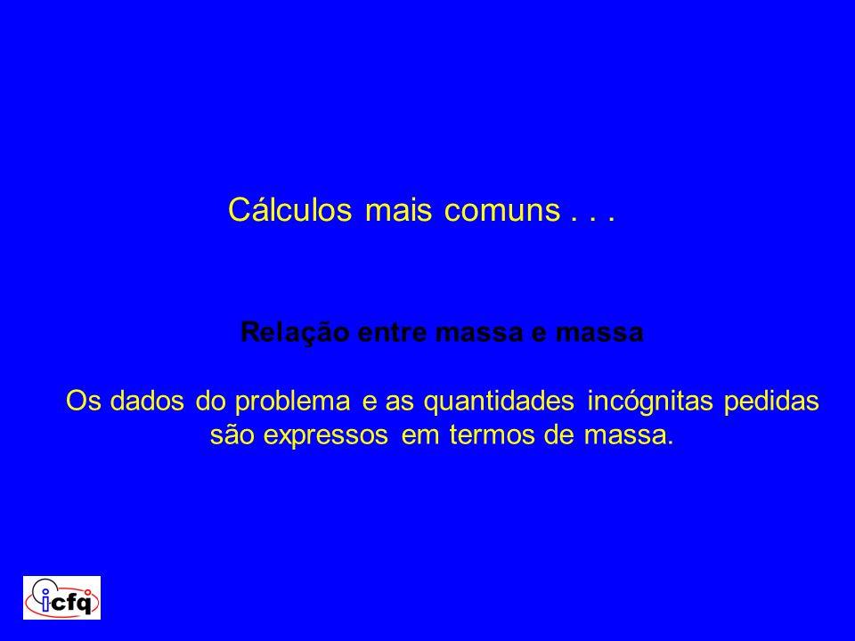 Cálculos mais comuns .