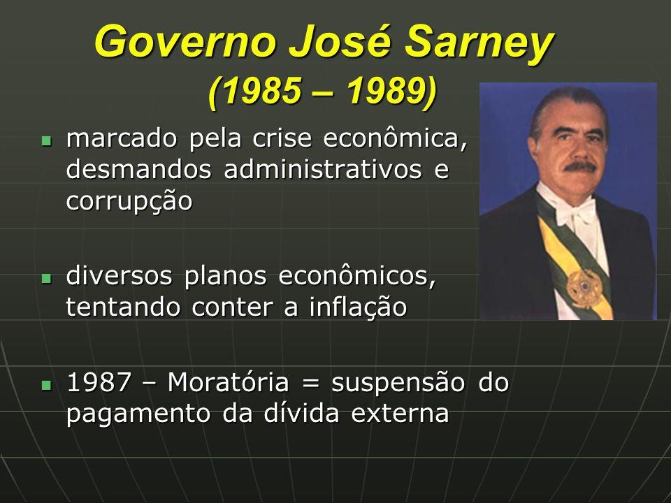 Governo José Sarney (1985 – 1989)