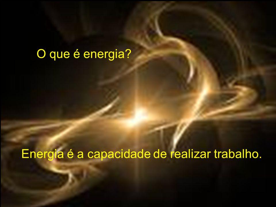 O que é energia Energia é a capacidade de realizar trabalho.