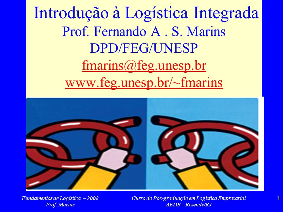 Introdução à Logística Integrada Prof. Fernando A. S