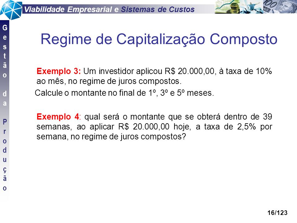 Regime de Capitalização Composto