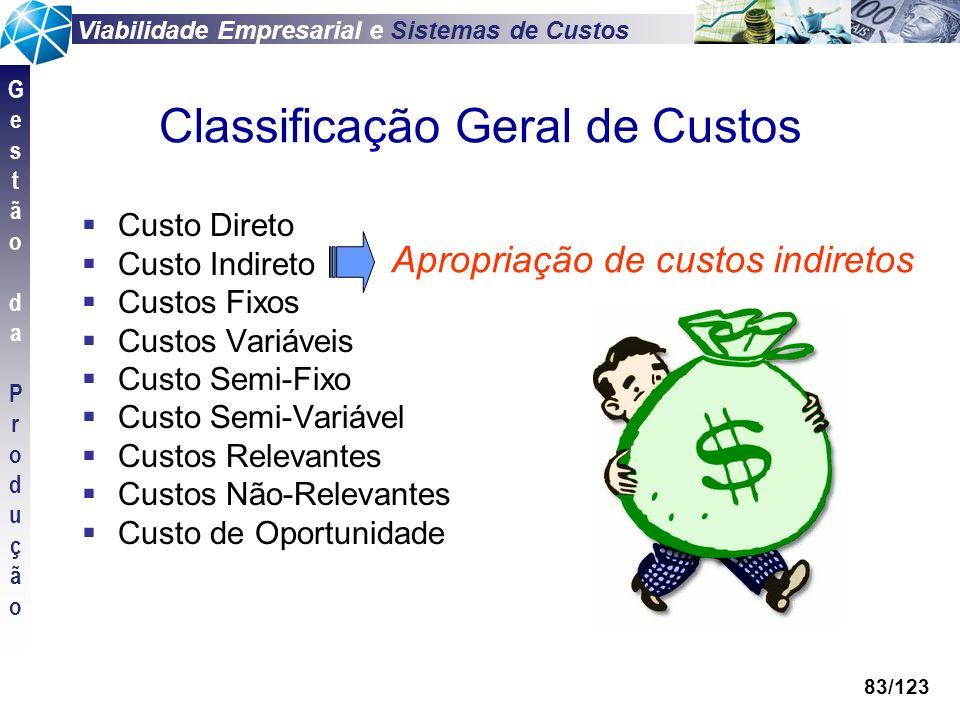 Classificação Geral de Custos